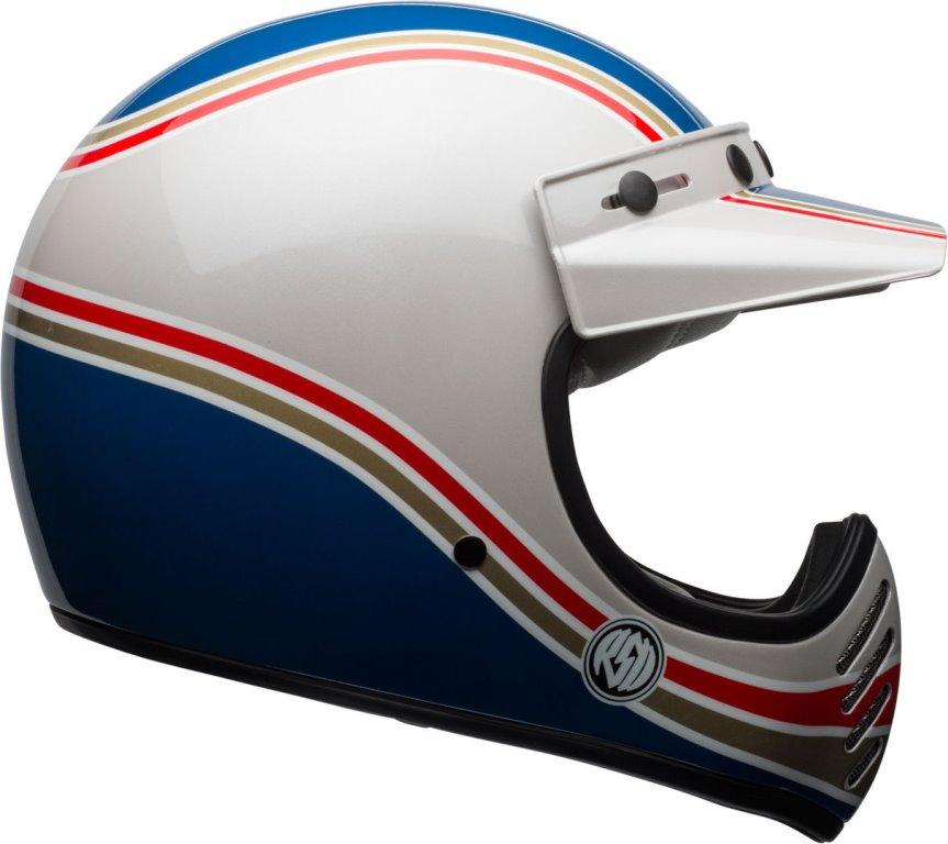 caschi integrali moto  Casco Integrale Bell Moto 3 RDS Malibu' Blu Bianco - Due Ruote
